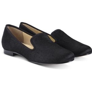 Cole Haan Black Calf Hair Loafers Flats